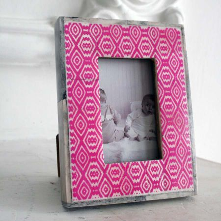 Small Pink Bone Photo Frame