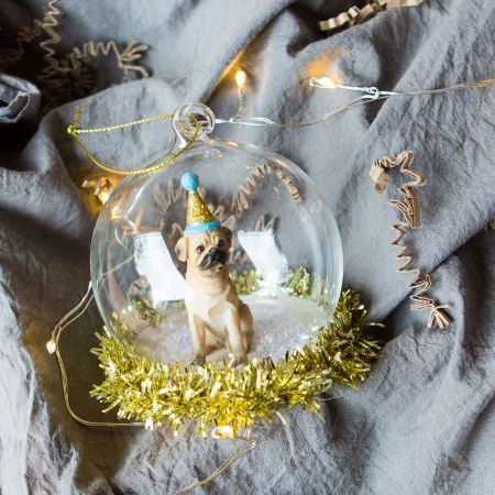 Party Pug Pup Bauble