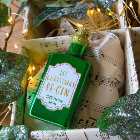 Let Xmas Be-Gin Bauble