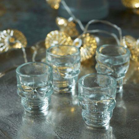 Set of Four Skull Shot Glasses