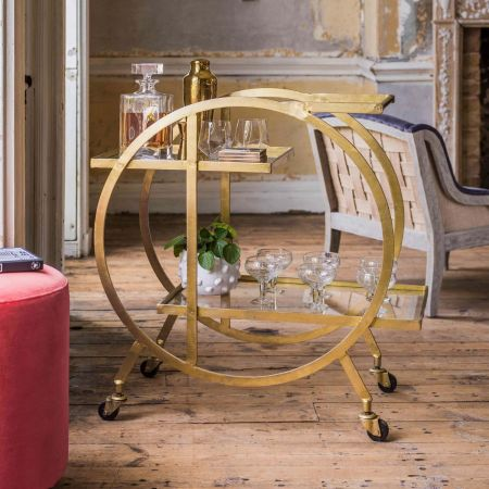 Kara Circular Drinks Trolley