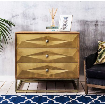 Umberto Brass Chest of Drawers