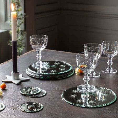 Mirrored Star and Circle Placemats and Coasters