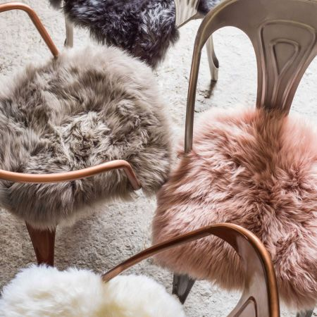 Square Sheepskin Seat Pads