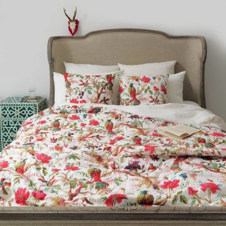 Natural Bird Of Paradise Kingsize Quilt