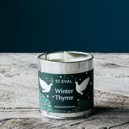 Winter Thyme Christmas Tin Candle
