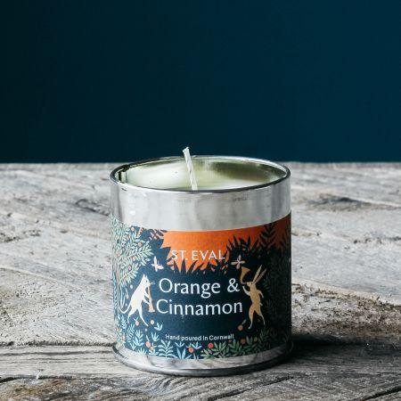 Orange and Cinnamon Christmas Tin Candle