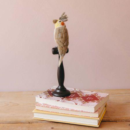 Grey Cockatiel on Stand
