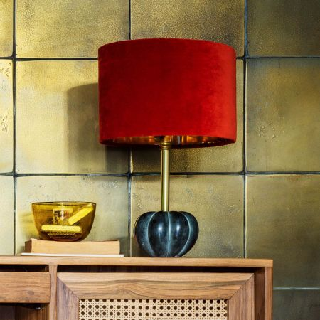 Pumpkin Stone Table Lamp
