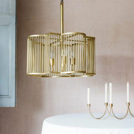 Harlow Large Brass Pendant