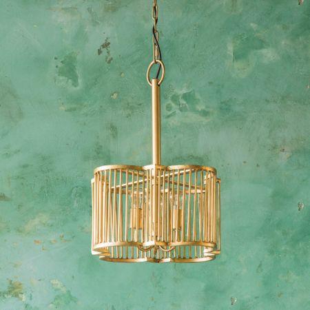 Harlow Small Brass Pendant