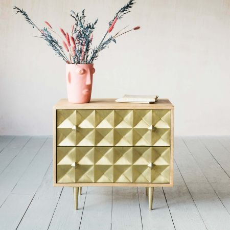 Small Gem Cladded Chest of Drawers