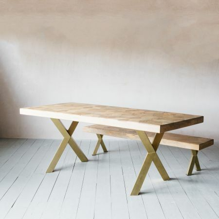 Faye Parquetry Dining Table