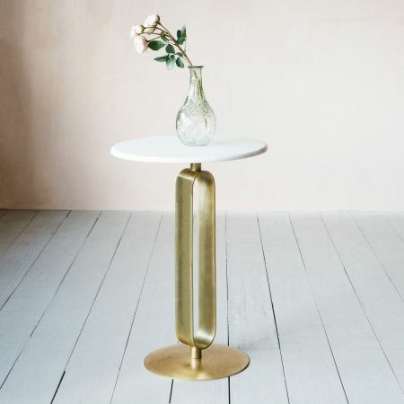 Braylin Marble Side Table