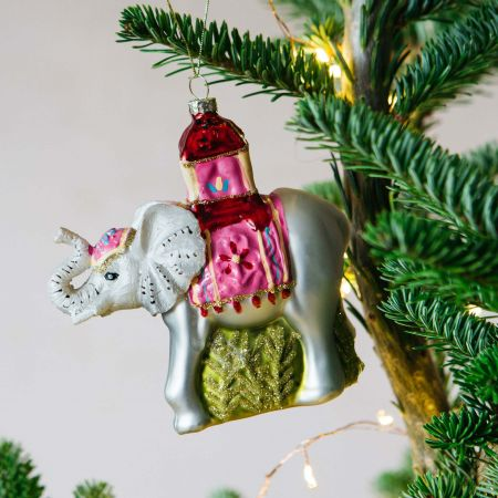 Glittery Elephant Decoration