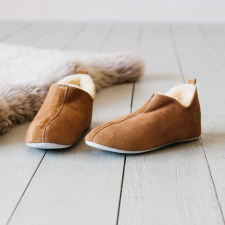 Tan Sheepskin Lina Slippers