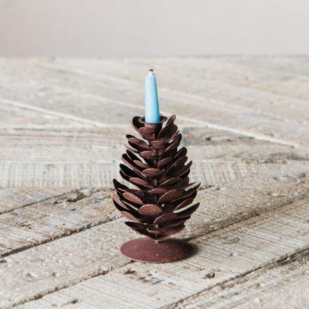 Fir Cone Candlestick