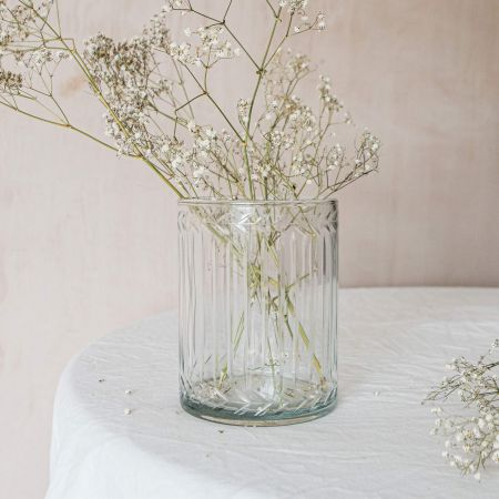 Glass Etched Vase