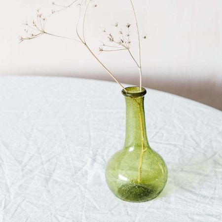 Green Bulb Glass Vase