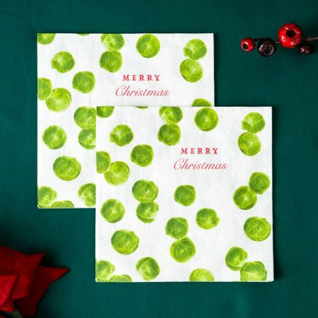 Pack of Twenty Brussels Sprouts Napkins