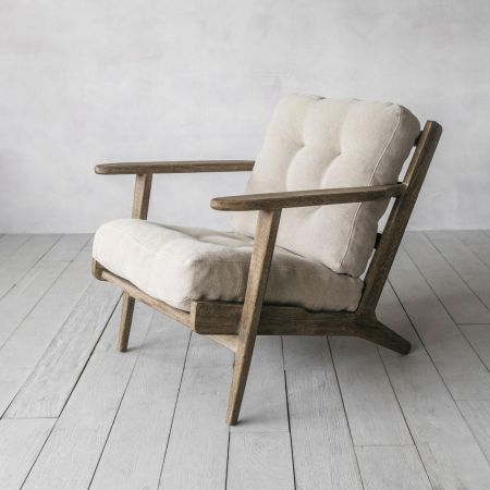Dylan Natural Linen Armchair