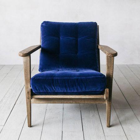 Dylan Navy Velvet Armchair