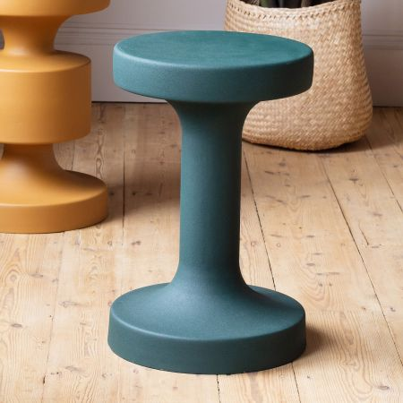 Teal Metal Side Table