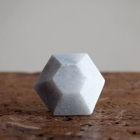 Diamond Marble Drawer Knob - Thumbnail