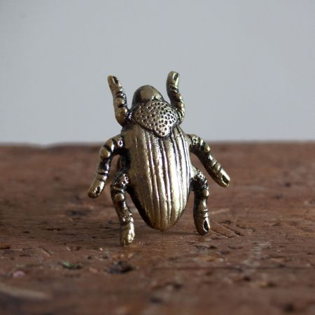 Golden Beetle Metal Drawer Knob - Thumbnail