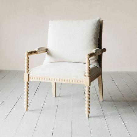 Chantel Natural Linen and Ash Armchair
