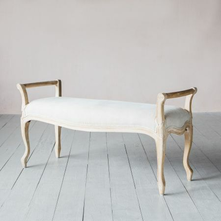 Chantel Natural Linen and Ash Bench