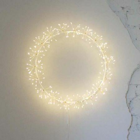 Light Up Starburst Wreath