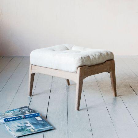 Dylan Linen Footstool
