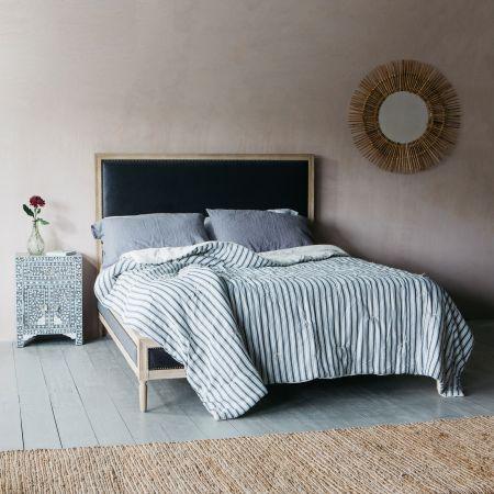 Alora Grey Velvet Beds
