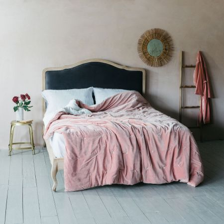 Luna Grey Velvet Beds
