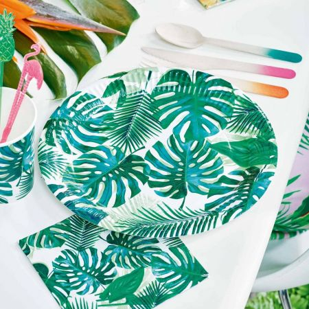 Pack of Eight Palm Leaf Paper Plates