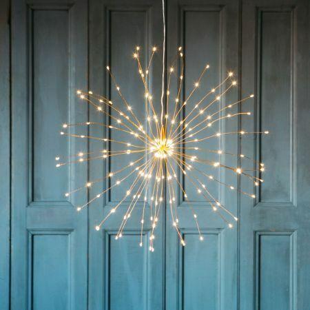 Copper Hanging Starburst Light