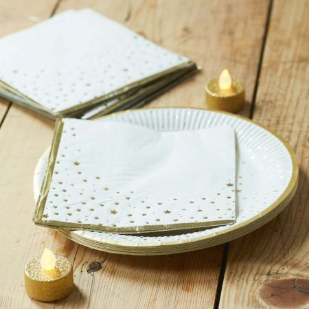Pack of Sixteen Star Napkins