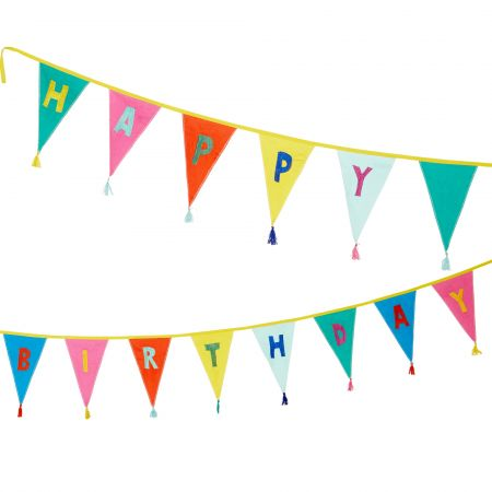 Rainbow Happy Birthday Bunting