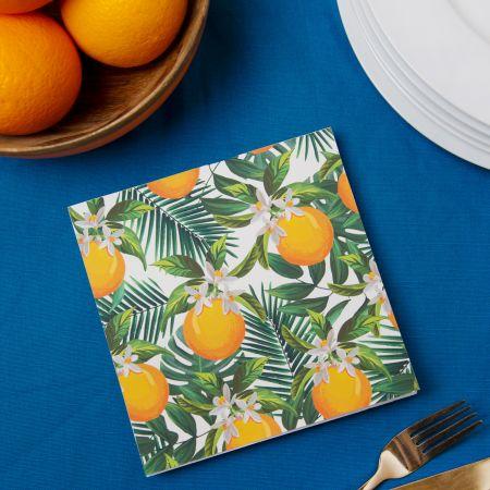 Set of Twenty Oranges Napkins
