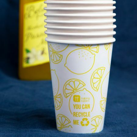 Set of Eight Lemon Paper Cups