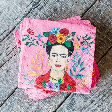 Set of Twenty Frida Paper Napkins