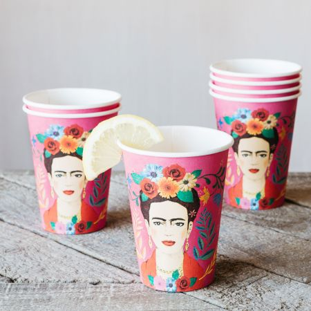 Set of Eight Frida Paper Cups