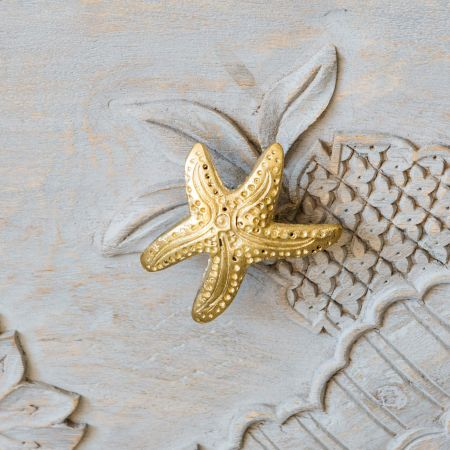 Star Fish Gold Door Knob