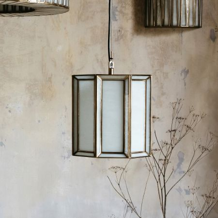 Trumen Small Frosted Glass Pendant