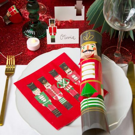 Pack of Sixteen Red Nutcracker Napkins