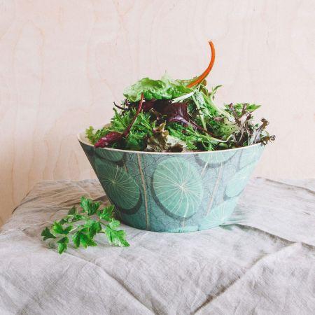 Bamboo Water Lily Salad Bowl
