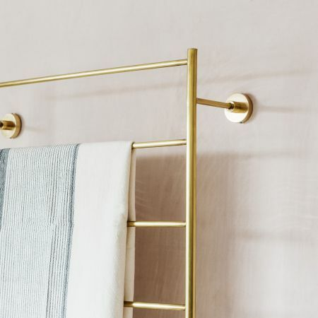 Trent Large Gold Mounted Towel Rack