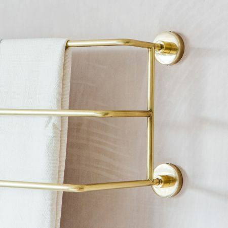 Trent Small Gold Mounted Towel Rack