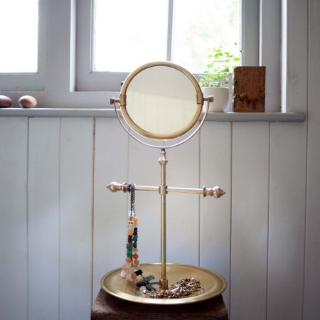 Antiqued Finish Clara Vanity Mirrors